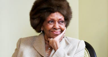 "In this Jan. 22, 2013, file photo American gospel singer and author Cissy Houston poses for a portrait in New York. Cissy Houston, Whitney Houston's mother, said allegations that her superstar daughter and her son were molested by her niece are ""unfathoma"