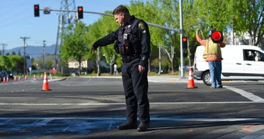 Police and road crews at scene of Sunnyvale crash