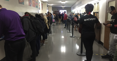 High turnout was reported in Alameda County on Election Day 2018.