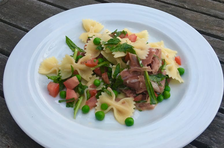 Andrew Friedman's Farfalle with Parmesan, Peas, and Prosciutto