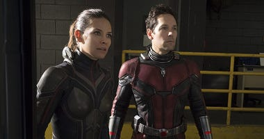 "Evangeline Lilly and Paul Rudd in ""Ant-Man and the Wasp"""