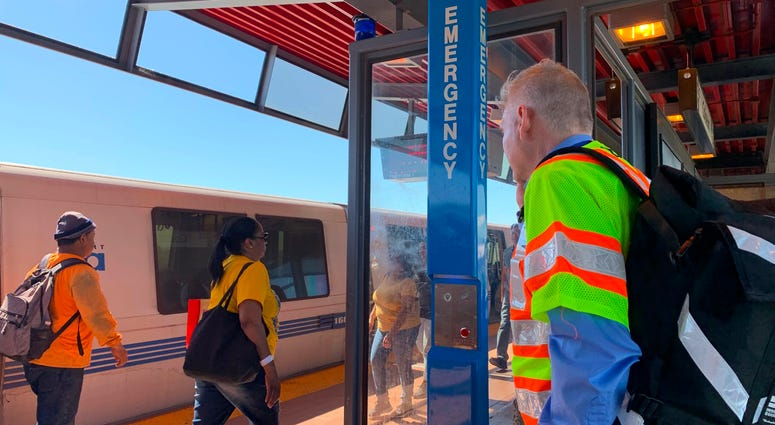 The Coliseum station on BART had some emergency call boxes installed around April 24, 2019.