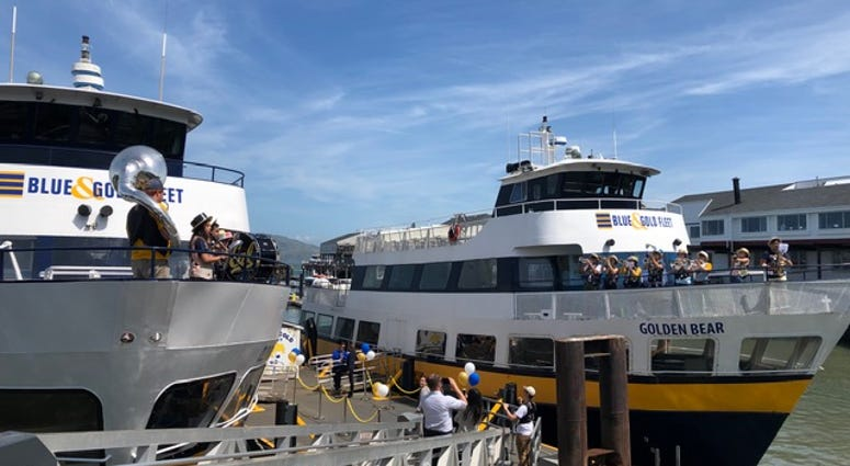 The Blue and Gold Fleet ferry in San Francisco celebrated its anniversary on May 23, 2019.