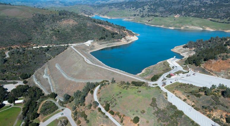 Anderson Reservoir Dam in Santa Clara County.
