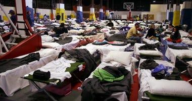 California evacuation shelter