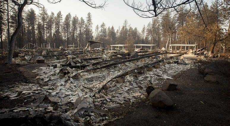 Nov. 18, 2018; Chico, CA, USA; The Camp Fire burned so quickly through the town of Paradise that little remains recognizable from the businesses that once lined the streets near the heart of the town.
