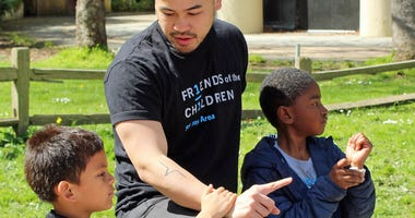 Cedric DeRosas is one of many mentors that helps children starting at a young age.