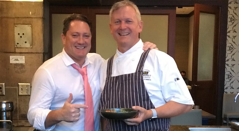 Liam and Executive Chef Mark Dommen (Photo credit: Foodie Chap/Liam Mayclem)