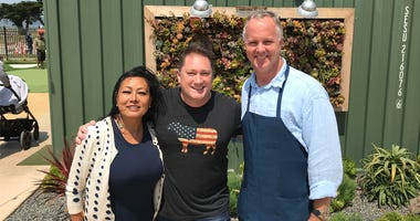 Chef Parke Ulrich, Liam and MeeSun Boice (Photo credit: Foodie Chap/Liam Mayclem)