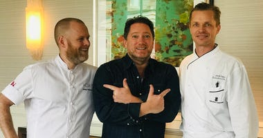 (L-R) Chef Johan Björkman, Liam and Chef Jakob Esko (Photo credit: Foodie Chap/Liam Mayclem)