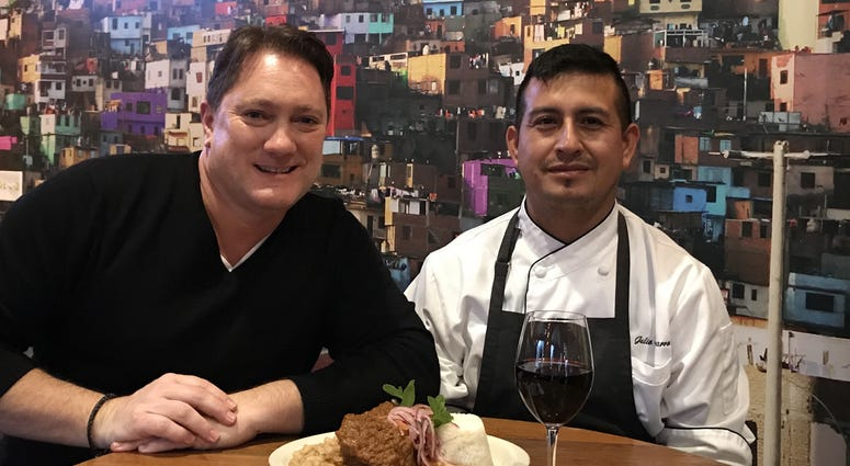 Liam with Chef Julio Navarro of 'Lima' Concord (Photo credit: Foodie Chap/Liam Mayclem)