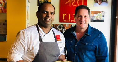 Chef Rupam Bhagat of Ritu Indian Soul Food and Liam