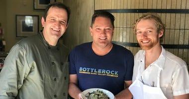 Chef Donato Scotti, Liam and Chef Chris D'Andrea