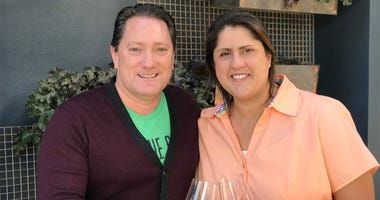 Winemaker Chrissy Whittman and Liam (Photo credit: Foodie Chap/Liam Mayclem)