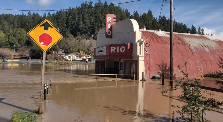 Monte Rio in Sonoma County was underwater after the Russian River flooded in late February 2019.