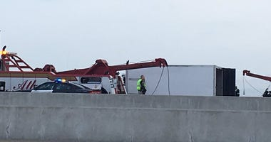 A passenger in a box truck was killed when it slammed into the rear of a bus on the Bay Bridge on May 29, 2019.