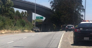 San Francisco police were investigating a shooting that took place on I-280 on June 10, 2019.