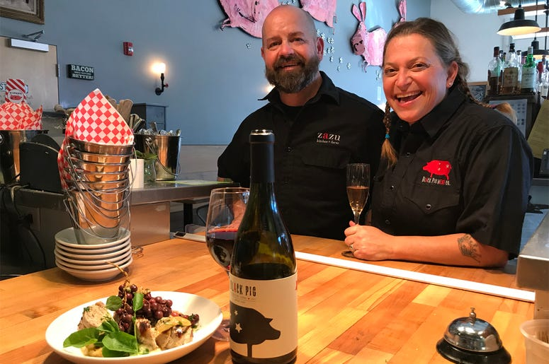 Chefs Duskie Estes & John Stewart of zazu kitchen + farm