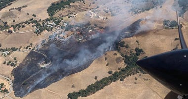 Cal Fire said that two buildings were destroyed by the Aborn Fire in San Jose on July 15, 2019.