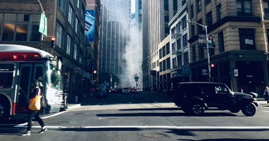 Steam rising at the Embarcadero Station was wrongly reported by social media users as a smoking fire on Sept. 10, 2019.