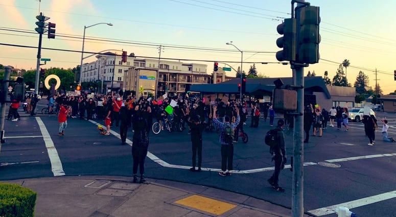 Protests in Santa Rosa, June 1, 2020