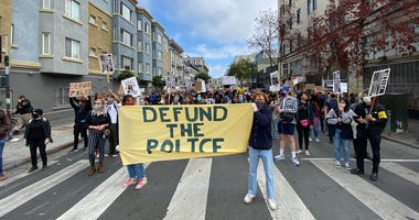 Protestors Calling to Defund Police in Tenderloin, San Francisco, June 23, 2020
