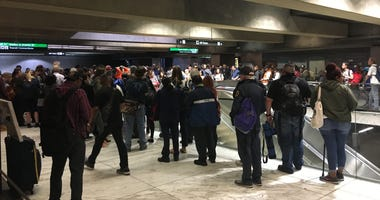 BART riders endured long lines at the Embarcadero station after a gas leak halted service between San Francisco and the East Bay on June 6, 2019.