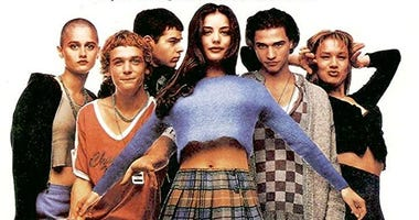 Robin Tunney, Ethan Embry, Rory Cochrane, Liv Tyler, Johnny Whitworth and Renée Zellweger in 1995's 'Empire Records'