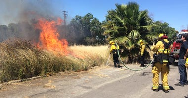 Firefighters in Contra Costa County demonstrated the hazards posed by fireworks on June 18, 2019.