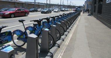A FordGo bike station in San Francisco.