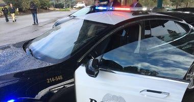 Fremont police department's Tesla patrol car.