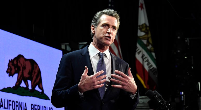 avin Newsom speaks during election night event on November 6, 2018 in Los Angeles.