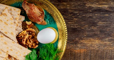 Plated Passover Meal