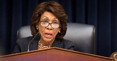 House Financial Services Committee Chairwoman Maxine Water (D-CA) questions Wells Fargo and Company CEO Timothy Sloan as he testifies before the committee in the Rayburn House Office Building on Capitol Hill March 12, 2019 in Washington, DC.