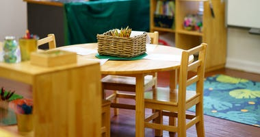 Chairs and Table in Daycare or Kindergarten Class