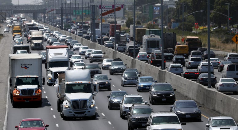 raffic backs up along Interstate 880 on July 25, 2019 in Oakland, California.