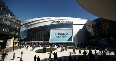 An exterior view of the Chase Center before the Golden State Warriors game against the Los Angeles Lakers on October 05, 2019 in San Francisco.