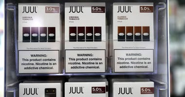 Juul products are displayed at Smoke and Gift Shop on October 17, 2019 in San Francisco.