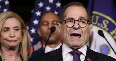 House Judiciary Committee Chairman Jerrold Nadler (D-NY) speaks during a news conference following the passage of a resolution formalizing the impeachment inquiry centered on U.S. President Donald Trump October 31, 2019.