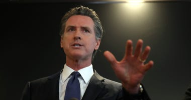 Gov. Gavin Newsom speaks during a news conference at the California Department of Public Health on February 27, 2020 in Sacramento.
