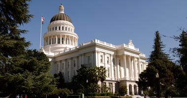SACRAMENTO, CA - OCTOBER 9: The California state Capitol building is shown October 9, 2003 in downtown Sacramento, California.