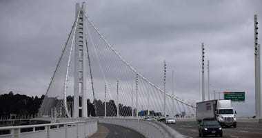 A view of the eastern span of the Oakland-San Francisco Bay Bridge on May 18, 2015 in San Francisco.