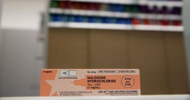 A box of the overdose antidote Naloxone Hydrochloride sits on a counter at a Walgreens store on February 2, 2016 in New York City.