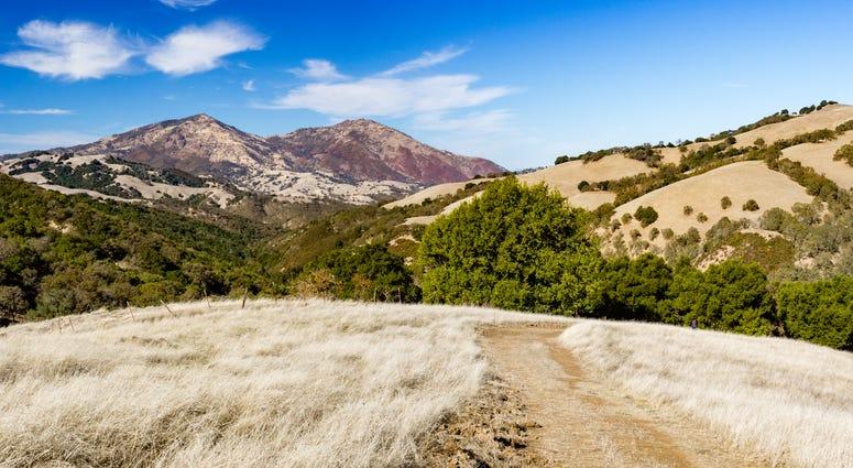 The peak of Mount Diablo seen from Morgan Territory Regional Park.