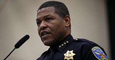 SAN FRANCISCO, CA - MAY 15: San Francisco police chief Bill Scott speaks during a news conference at the San Francisco Police Academy on May 15, 2018 in San Francisco, California.