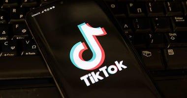 TikTok app on a cellphone
