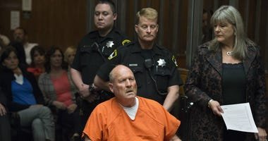 Joseph Deangelo, the so-called Golden State Killer, at his arraignment for a 1978 murder on April 27, 2018.