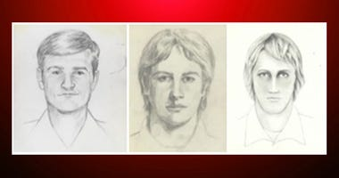 "FBI shows artist renderings of a serial killer and rapist, also known as the ""East Area Rapist"" and ""Golden State Killer"" from 1976 to 1986."