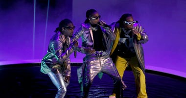 Hip-hop trio Migos, shown here in a Brooklyn, New York performance earlier this month, will be one of the headline acts at this weekend's Rolling Loud festival in Oakland.