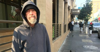 Charles, a homeless man in San Francisco, turned down an offer to sleep on a cot in a soup kitchen while wildfire smoke  lingered over the city.